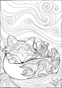 Sleeping Fox Coloring Page Coloring Pages Fox Coloring - Sleeping Fox Coloring Page Coloring Pages Fox Coloring - Fox Coloring Page, Adult Coloring Book Pages, Cute Coloring Pages, Animal Coloring Pages, Printable Coloring Pages, Coloring Pages For Kids, Coloring Sheets, Coloring Books, Printable Worksheets