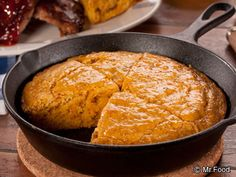 Kickin' Corn Bread - It's the side dish recipe that goes with everything: chili, ribs, chicken, and more. Your backyard BBQ isn't complete without some homemade cornbread.