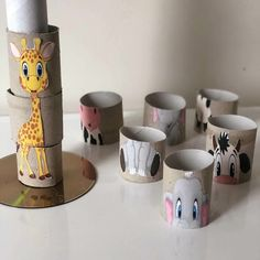 21 Creative and Fun Toilet Paper Roll Crafts Kids Will Love Making This! In this post, I'm sharing all of our favorite toilet paper roll crafts easy and paper towel roll crafts as well as ways to use other cardboard tubes for art, crafts and activities. Baby Art Activities, Toddler Learning Activities, Montessori Activities, Kids Learning, Motor Activities, Family Activities, Kids Crafts, Art Crafts, Recycled Crafts For Kids