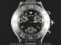 dc2554b3f66 Vente et location de montres de luxe d occasion - CARTIER CHRONOSCAPH 21