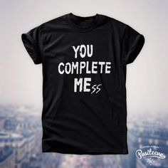 0dca7470b5f5 You Complete Mess Me five 5 seconds of summer luke hemmings 5sos t-shirt top
