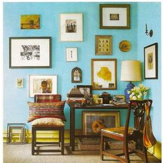 Love the blue with golden yellow and brown as dark contrast