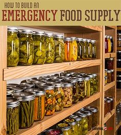 How To Build An Emergency Food Supply | Survival Prepping Ideas, Survival Gear, Skills & Emergency Preparedness Tips - Survival Life Blog: http://survivallife.com #survivallife #survival #prepping