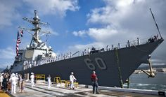 In this file photo, USS Paul Hamilton (DDG 60) returns home from a previous deployment. (U.S. Navy/MC3 Diana Quinlan) PEARL HARBOR - The guided-missile destroyer USS Paul Hamilton (DDG 60) is scheduled to depart Joint Base Pearl Harbor-Hickam Feb. 14 on an independent deployment to the Arabian Gulf and Western Pacific. While deployed, Paul Hamilton and its crew of more than 300 Sailors will conduct theater security cooperation and maritime presence operations with partner nations.