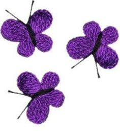 Hekle beau papillon pour la décoration