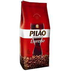 Pilao o Cafe Fuerte do Brasil - Cafe Torrado em Graos Espresso (Coffee beans) Cafe en Grano bag 1 kilo