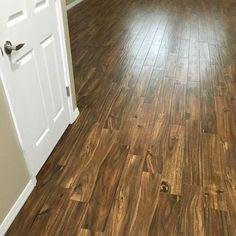 New Kamba Ebano Wood Plank Ceramic Tile Family Room