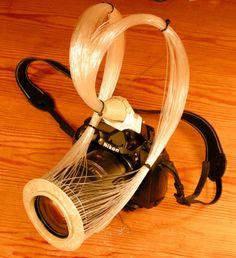 DIY Ring Flash with a 150-Element Optical Fiber Whip - Aminas og Oles sæbekasse