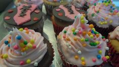 Cupcakes Espartilho e ganache chocolate branco