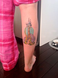 Rapunzel's tower from Tangled. Done by Caroline at Good Point Tattoos, Oakville, ON.