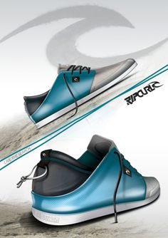 Definitely a beach shoe. The bright blue goes along with the idea that most people will be wearing these kicks while strutting around the beach, but the design is still casual enough that it could be worn elsewhere.