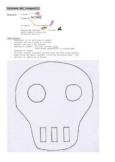 EOC: cómo hacer una calavera ( creación de Catherine Maudet-) ► maniement de necesitar // et de l'expression de l'obligation (hay que / tener que par exemple)