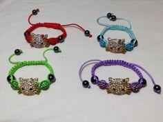 Shamballa-Crystal-Bead-Hello-Kitty-Adjustable-Kids-Bracelet-Colors-US-Seller #hellokitty #hello kitty #bracelet #shamballa
