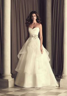 Paloma Blanca 4465 Ball Gown Wedding Dress