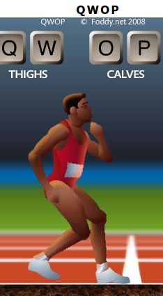 Qwop unblocked qwop game pinterest gaming do you know how leg muscles work play qwop a browser based game in which you are in control i managed to get the runner 1 one from the starting line ccuart Image collections