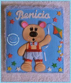 Capa para cartão de vacina decorada com Ursinho Chocolate - Pedido da Magda/OB
