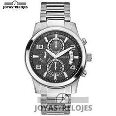 Maravilloso ⬆️😍✅ Guess - Reloj de cuarzo para hombre 😍⬆️✅ , ejemplar perteneciente a la Colección de RELOJES GUESS ➡️ PRECIO 229 € Lo puedes comprar en 😍 https://www.joyasyrelojesonline.es/producto/guess-guess-reloj-de-cuarzo-para-hombre-correa-de-acero-inoxidable-color-plateado/ 😍 ¡¡No los dejes Escapar!! #Relojes #RelojesFestina #Festina