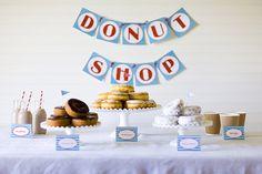 love the idea of a donut shop birthday!