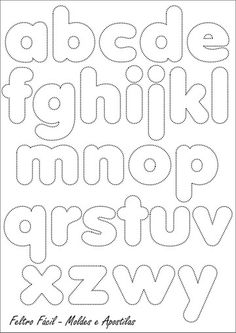 Resultado de imagen para moldes de letras para foamy gratis