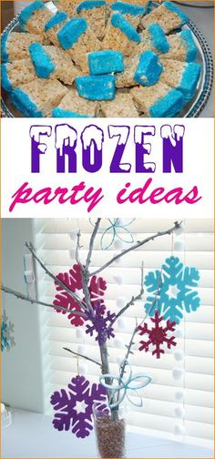 "Frozen Birthday Party.  Great party ideas for a girl or boy party.  Great Frozen-themed party ideas for food, decorations and party favors.  ""Do you wanna build a snowman?"" party ideas."