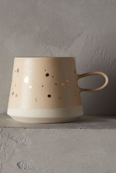Anthropologie Gold-Flecked Mug #anthrofave