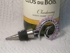 Wine Stopper Violet Swarovski Crystal by GagaGems on Etsy, $15.00