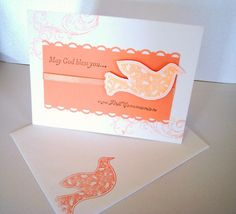 First Communion Dove Religious card by Wcards on Etsy, $3.00