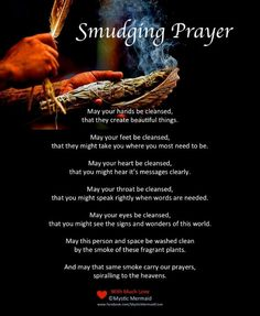 Smudge prayer