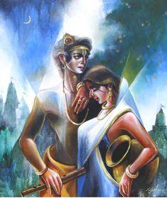 Krishna Leela, Krishna Radha, Lord Krishna, Radha Kishan, Lord Vishnu Wallpapers, Indian Goddess, Krishna Painting, God Pictures, Butterfly Art
