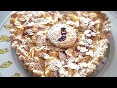 Weihnachts Tarte mit Äpfeln und Mandeln glutenfrei backen Oatmeal, Pie, Breakfast, Videos, Desserts, Food, Almonds, Nature, Food Food