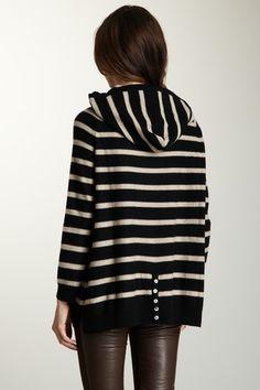525 America  Cashmere Hoodie- striped waaaaaaaaaaaaaaaaannnnnnt (if not itchy)