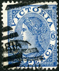 "Victoria  1867 Scott 116 6d blue Wmk 70 ""V and Crown"""