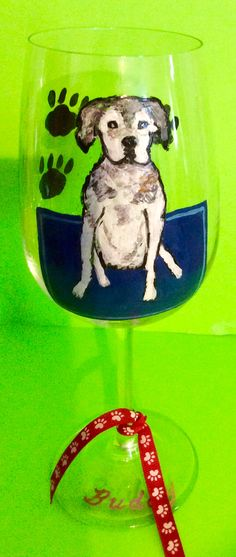 This cute fella looks great on a hand painted wine glass. What a fun gift to give. $28.00 https://www.clearlysusan.com/Animal-Pet-Lover-_c_162.html