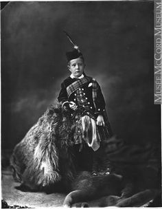 +~+~ Antique Photograph ~+~+   Solemn young boy in full HIghlander dress.  Such a beautiful portrait.