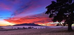 The early light over Mount Bartle Frere Atherton Tablelands Queensland