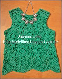 Adriana Lima: Top Monalisa em crochê