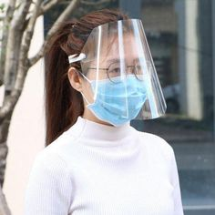 Protective Face Shield Clear Visor Flip Up Transparent Mask Anti Splash Elastic Band Full Face Cover for Workshop Cooking Cleaning Sales Online transparent - Tomtop Head Shapes, Face Shapes, Critical Period, Safety Mask, Clear Face, Protective Mask, Eye Protection, Elastic Headbands, Full Face