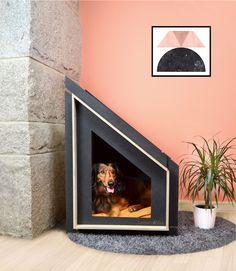 Modelo Matterhorn de la colección HandleHome by LambertandMax. Casa para gatos y perros desmontable. Casa de madera, un refugio para tu mejor amigo.