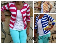 icandy handmade: a tutorial for sewing  a short and simple cardigan
