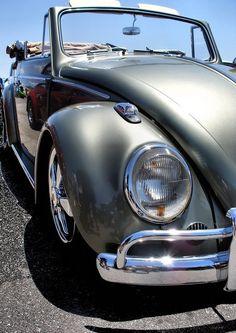 vw silver convertible beetle