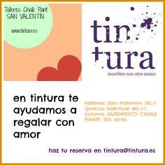 SAN VALENTÍN EN TINTURA. http://www.tintura.es/cursos-talleres/