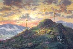 """Remember Me by Thomas Kinkade """"Then he said, 'Jesus, remember me when you come into your kingdom.'"""" -Luke 23:42"""