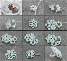 ring- o- licious Beaded Rings, Beaded Jewelry, Handmade Jewelry, Jewellery, Beading Projects, Beading Tutorials, Jewelry Patterns, Beading Patterns, Bead Crafts