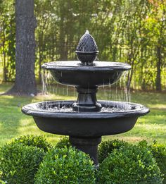 45 Incredible Front Yard Landscaping Design Ideas With Fountain Design - Front yard landscaping requires extra care in planning and design implementation. Every front yard needs to look special and unique. Your front yard l. Concrete Fountains, Diy Garden Fountains, Small Fountains, Stone Fountains, Outdoor Fountains, Front Yard Fountains, Landscape Fountains, Landscaping With Fountains, Fountain Garden
