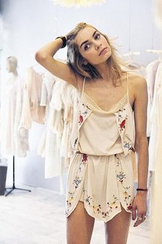 dress romper playsuit summer cream floral cute tumblr flowers boho lace strappy silk