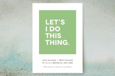Let's I Do This Thing Save the Date Cards by Ellis at minted.com
