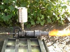(Level show me your proof: How do you make the torch or flamethrower for ? Waste Oil Burner, Rocket Stove Design, Oil Stove, Forge Burner, Ceramic Tools, Fuel Oil, Oil Burners, Rocket Stoves, Blacksmithing