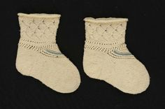 Infant's Socks 1st half of the 19th century The Museum of Fine Arts, Boston