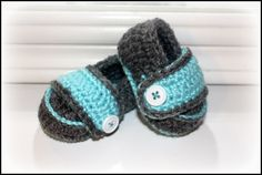 Crochet button loafers, baby boy shoes, baby shower gift, photo prop, booties, christmas gift, baby's 1st shoes, baby aqua, heather grey on Etsy, $23.00