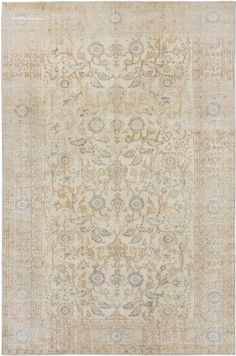 Hand-knotted Anatolian Sunwash Cream Wool Rug